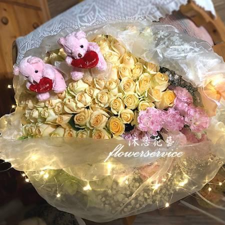 K113求婚花束真心愛你情人節花束台北士林花店