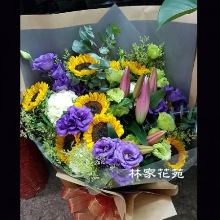 A028向日癸傳情花束情人節演唱會花束