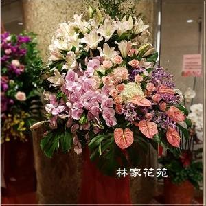 G016開幕祝賀高架花籃、開幕藝術花籃羅馬花柱慶祝榮陞、開幕喬遷(一個)