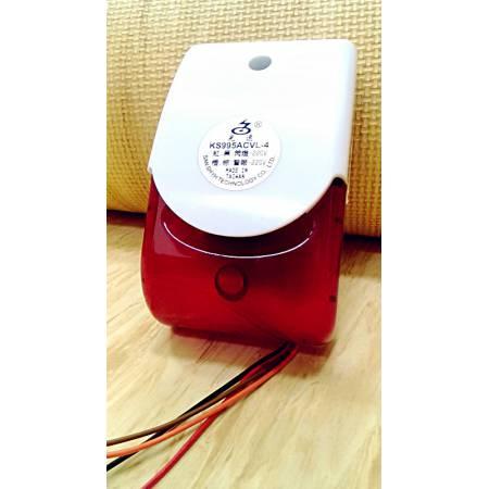 4線式紅白閃燈警報器