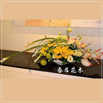 E002精緻盆花開幕喬遷會場佈置室內景觀佈置花禮台中花店