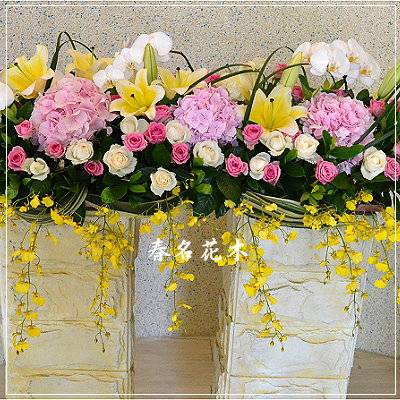 E018精緻盆花開幕喬遷會場佈置室內景觀佈置花禮台中花