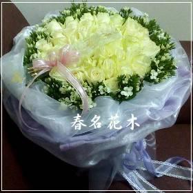 A032春名花木-玫瑰花束傳情花束情人節花束生日台中花店