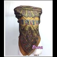 S116-咖啡色圖紋絲巾