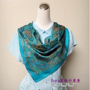 S101-水藍色絲巾