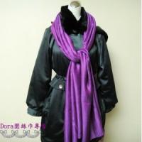 S107-亮紫色素面圍巾
