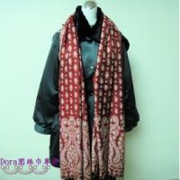 S106-紅色雙面圍巾