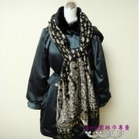 S105-黑色雙面圍巾