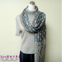 S103-淺藍色雙面圍巾