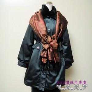 S111-亮咖色圖騰圍巾