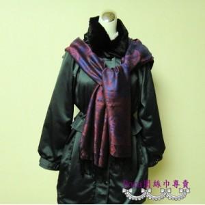 S110-暗紫色圖騰圍巾