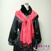 S109-亮粉色圖騰圍巾