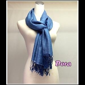 S031藍色素色圍巾