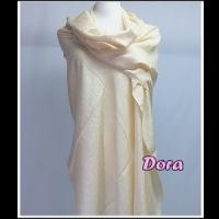 S032乳白色素色圍巾