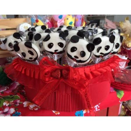 就是愛圓仔熊貓棒棒糖一組為60支499元-台南婚禮小物