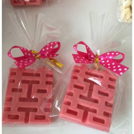 囍字巧克力(一份12元,一組為100份1200元)-台南婚禮小物