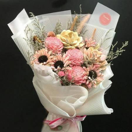 J003真摯的友情乾燥花束生日花束