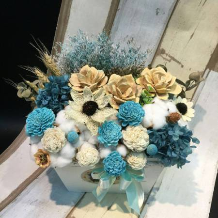 J005乾燥花盆花時尚流行乾燥花開幕盆花生日盆花