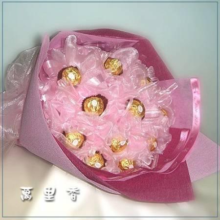 C018有你真好金莎花束台南市花店