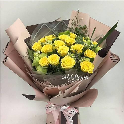 F061遇見幸福玫瑰花束-台南市花店