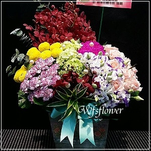 D035花現春色精緻桌花開幕落成賀禮賀婚禮台南市花店