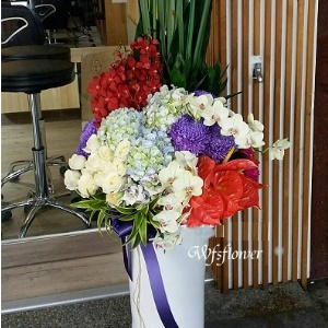 D045現春色精緻桌花開幕落成賀禮賀婚禮台南市花店