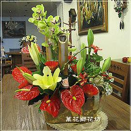 D047金竹迎春春節花禮台南花店
