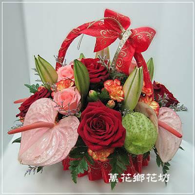 D050祝福母親節盆花-母親節花禮-台南市花店