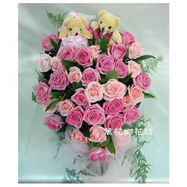 D056牽手一生婚禮情境精緻桌花會場佈置桌花喜慶盆花婚禮佈置台南市花店