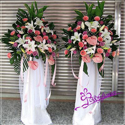 BL028柔情花禮精緻花架一對台南市花店