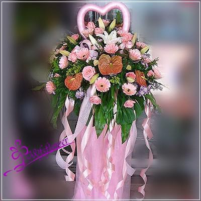 BL010婚禮的祝福羅馬花柱台南市花店
