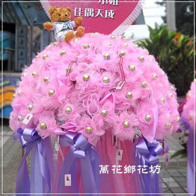 BL046甜蜜金莎花柱婚禮小物婚禮佈置台南市花店台南網路花店