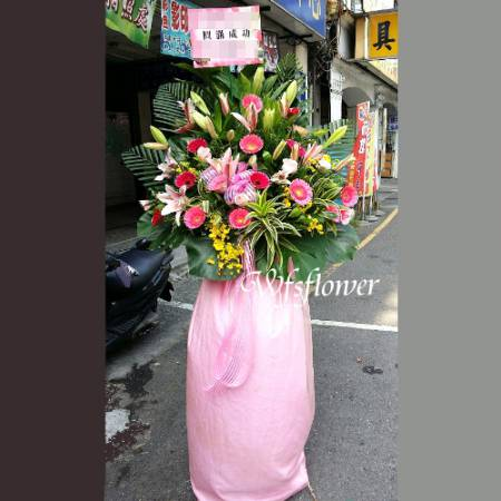 BL026高雅花架一對慶祝榮陞、開幕喬遷台南市花店