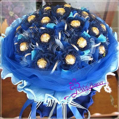 C045愛的藍圖甜蜜金莎花束情人節花束生日花束台南市花店