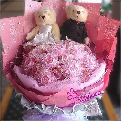 N036我們結婚吧-手工香皂玫瑰花束台南市花店