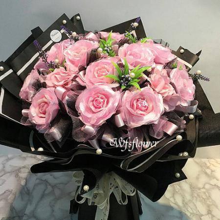 MS016玫瑰之戀手工香皂玫瑰花束生日花束台南市花店