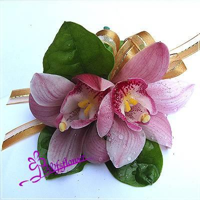 w-4粉色双朵亞蘭精緻胸花台南市花店