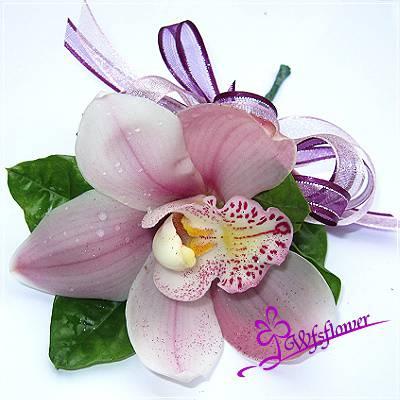w-5粉色單朵東亞蘭精緻胸花台南市花店