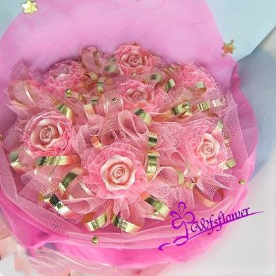 MS023柔情的擁抱手工香皂玫瑰花束台南市花店限量特價中
