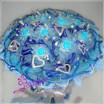 MS021藍能可貴精緻手工香皂玫瑰花束情人節花束台南市花店