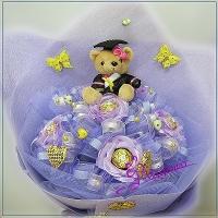 N055麻吉好友熊熊花束畢業花束台南市花店