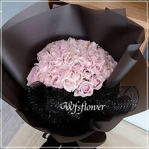 F116粉玫瑰花束情人節花束