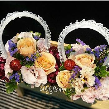 Y013婚宴童花藍台南市花店代客送花(一個$300元)