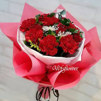 F119溫馨的祝福母親節花束康乃馨花束