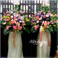 BL047BL047高架花藍(一對)藝術花柱台南市花店