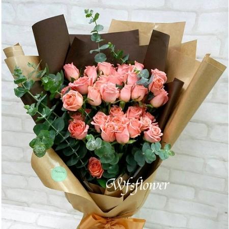 F045愛的元素-50朵粉玫瑰台南市花店