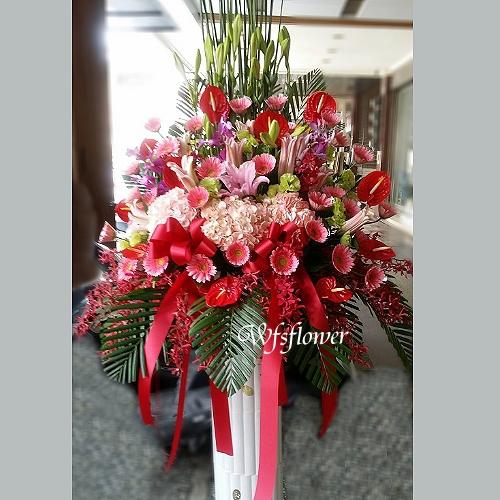 BL016喜洋洋羅馬花柱一對藝術花柱台南市花店