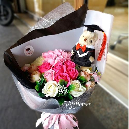 MS046-1畢業的祝福畢業花禮~香皂花