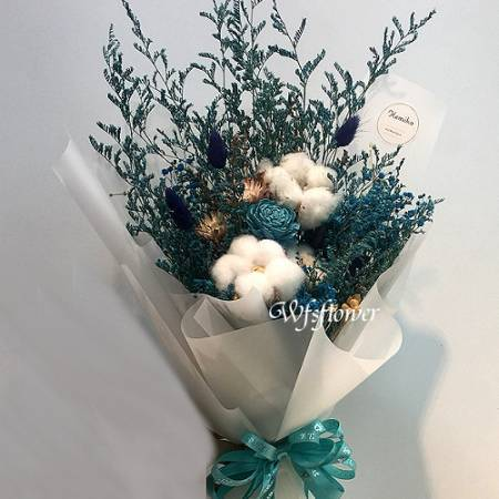 J010秘密花園乾燥花花束台南花店推薦