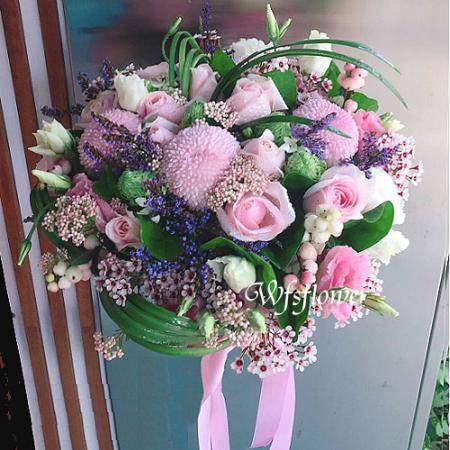 Y016浪漫婚宴捧花一世久久台南市花店